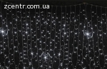 гирлянда внеш_DELUX_CURTAIN_456LED 2x1.5m белый/белIP44 EN