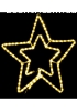 гирлянда внеш_DELUX_MOTIF_Star 54см желтый IP44 EN