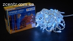 гирлянда внеш_DELUX_ICICLE_75LED 2x0.7m 18 flash бел/бел IP4
