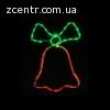 гирлянда внеш_DELUX_MOTIF_Bell 50*35см 3 flash красн/зелен.