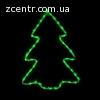 гирлянда внеш_DELUX_MOTIF_Christmas tree 60*45см 7 flash зел