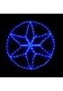 гирлянда внеш_DELUX_MOTIF_Star 6 кон. 60*60см 13 flash синий