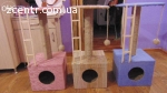 Когтеточки и домики для котов.