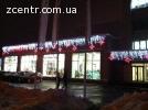 Новогоднее оформление фасадов светодиодными гирляндами