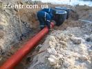 Установка выгребных ям копка канализации, монтаж септика.